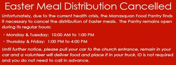 Easter Meal Dist Canceled Banner